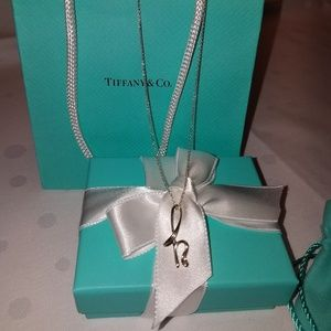 "Authentic Tiffany & Co letter ""h"" 925 silver"